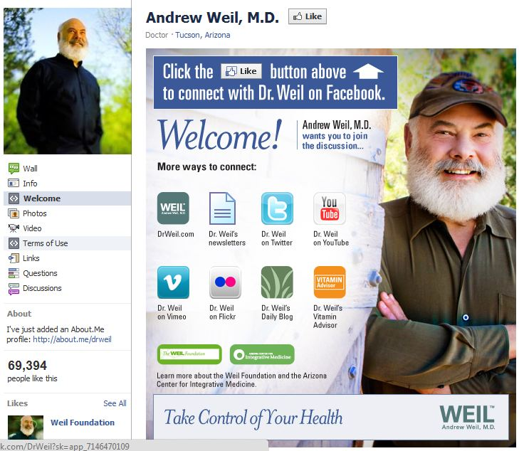 Dr. Weil Capture - Whole Life Marketing