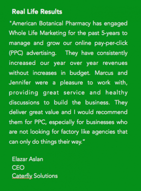 Pay Per Click Advertising Testimonial